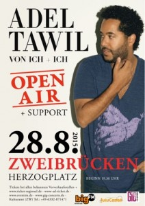 Adel Tawil von ICH & ICH (Veranstalter: GiG Concerts) @ City Festival Zweibrücken | Zweibrücken | Rheinland-Pfalz | Deutschland